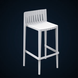 Tabouret blanc Location