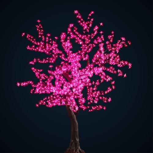 Arbre lumineux rose location