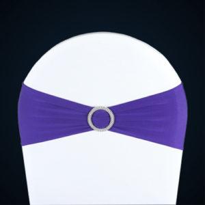 Nœuds de chaise Lycra violet Location