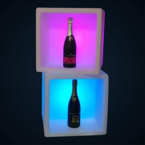 Cube pot lumineux location