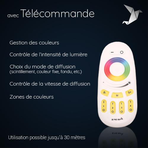Télécommande pour mobilier lumineux