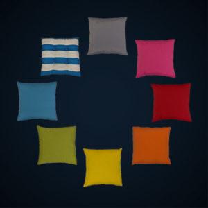 Coussins de couleurs location
