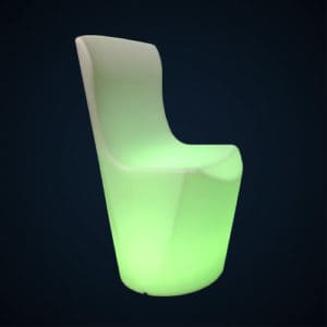 Chaise lumineuse location 49
