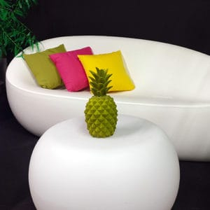 Ananas décoratif vert location