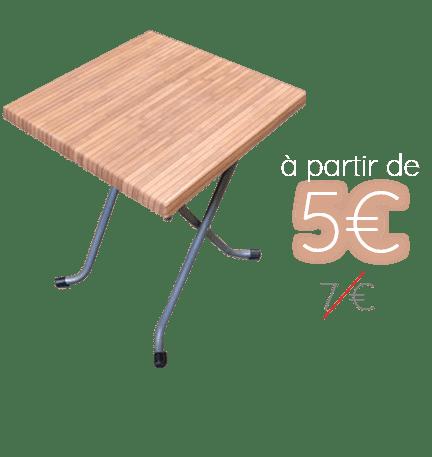 Location de tables - promo